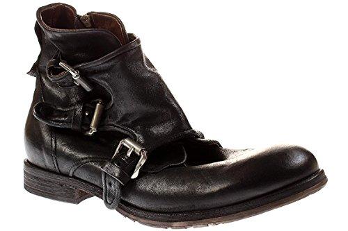 A.S 98 401202 - Herren Stiefel Stiefelette Biker Boots - 6002nero, Größe:46 EU