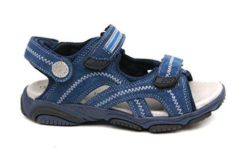 C iao Ciao Echtleder Sandalen Klettverschluss Sport Sandale Sommer Schuhe (28 EU, Blau)