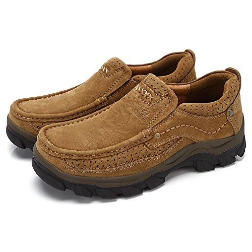 CAMEL Casual Schuhe Slip auf Loafer Wohnungen Lederschuhe W / Breathable Loch Sneaker für Walking Boat Driving Schuh Geeignet für die ganze Saison