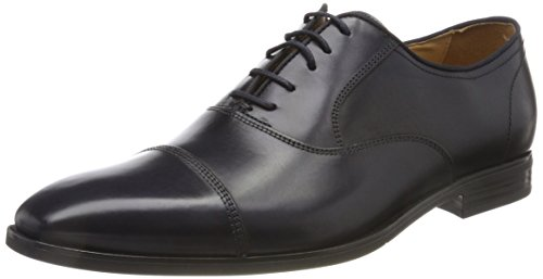 Geox Herren U New Life E Oxfords, Blau (Navy), 43 EU