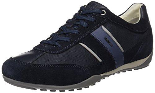 Geox Herren U Wells C Sneaker, Blau (Dk Navy), 46 EU