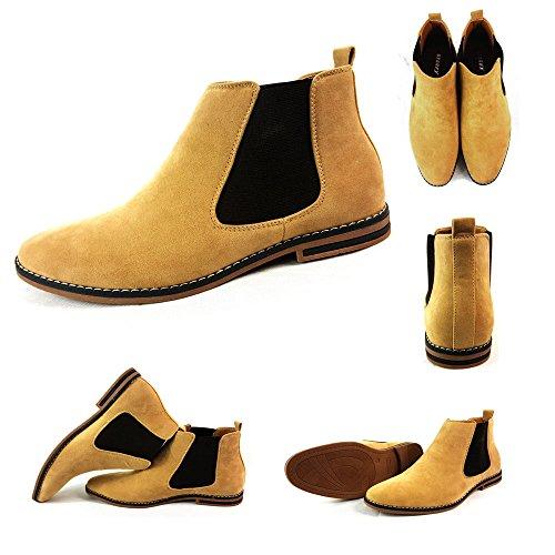 Herren Chelsea Boots, Wildleder, italienischer Stil, sportlich-elegant, Wildleder, camel, UK9 / EUR 43