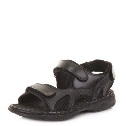Herren Sandalen Echt Leder Outdoor Sommer Sandalen - 42,5, Braun, Leder und Gummi
