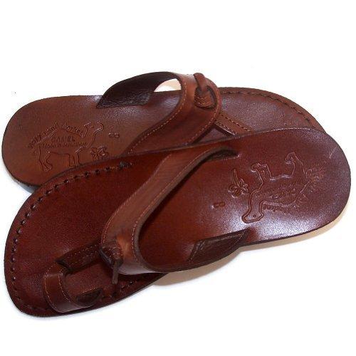 Holy Land Market Camel Herren -Sandalen aus Echtleder, braun - braun - Größe: M
