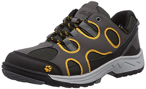 Jack Wolfskin Crosswind Texapore Low-Top Trekking & Wanderhalbschuhe, Grau(Burly Yellow), 32 EU