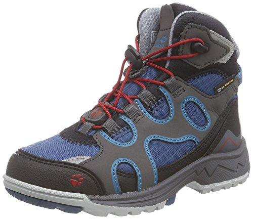 Jack Wolfskin Crosswind WT Texapore Mid K, Unisex-Kinder Trekking- & Wanderstiefel, Mehrfarbig (Moroccan Blue 1800), 31 EU (12 Kinder UK)