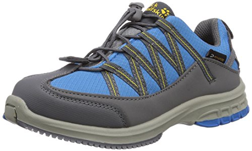 Jack Wolfskin KIDS HIDEAWAY TEXAPORE, Unisex-Kinder Trekking- & Wanderhalbschuhe, Blau (dark sulphur 3055), 26 EU (8 Kinder UK)