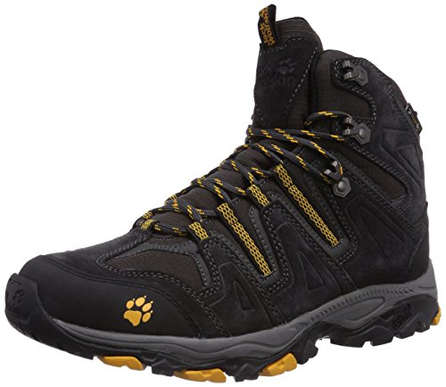 Jack Wolfskin MOUNTAIN ATTACK MID TEXAPORE M, Herren Trekking- & Wanderstiefel, Schwarz (burly yellow 3800), 47 EU (12 Herren UK)