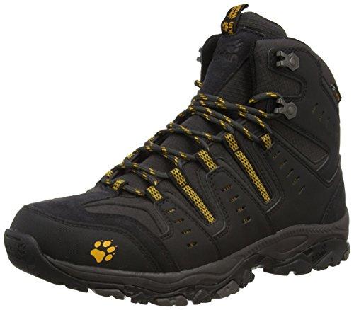 Jack Wolfskin MTN Storm Texapore Mid M, Herren Trekking- & Wanderstiefel, Schwarz (Burly Yellow 3800), 45.5 EU (11 Herren UK)