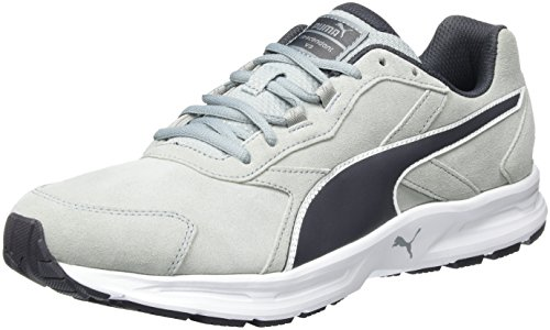 Puma Descendant v3 Suede, Herren Laufschuhe, Grau (quarry-periscope-white 02), 40 EU (6.5 Herren UK)