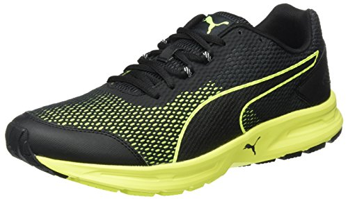 Puma Herren Descendant V4 Laufschuhe, Schwarz Black-Safety Yellow 02, 41 EU