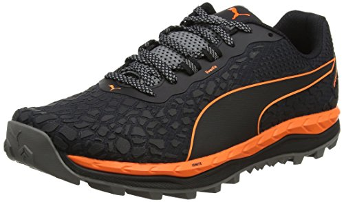 Puma Herren Speed Ignite Trail Outdoor Fitnessschuhe, Schwarz (Black-Shocking Orange-Quiet Shade), 44 EU