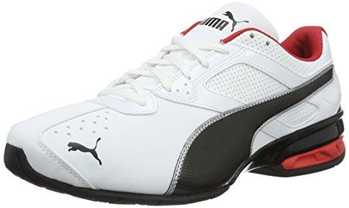 Puma Herren Tazon 6 FM Laufschuhe, Weiß White Black Silver 02, 44 EU