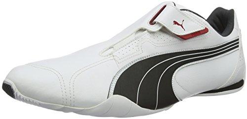 Puma Redon Move, Unisex-Erwachsene Sneakers, Weiß (white-black-ribbon red-puma silver-dark shadow 01), 43 EU (9 Erwachsene UK)