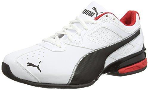 Puma Tazon 6, Herren Laufschuhe, Laufschuhe Training, White/Black Silver, 45 EU
