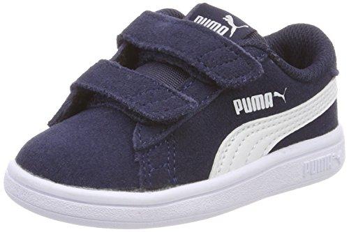 Puma Unisex Baby Smash v2 SD V Inf Sneaker, Blau (Peacoat White), 26 EU