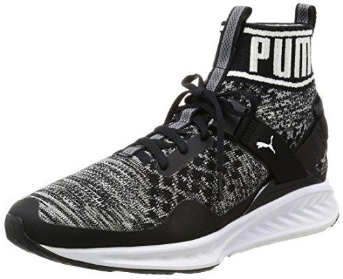 Puma Unisex-Erwachsene Ignite Evoknit Laufschuhe, Schwarz Black-Quiet Shade White 01, 43 EU