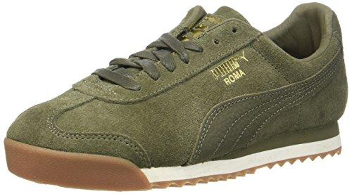 Puma Unisex-Erwachsene Roma Natural Warmth Sneaker, Grün (Olive Night-Whisper White), 43 EU