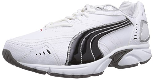 Puma Xenon TR SL, Herren Hallenschuhe, Weiß (white-black-puma silver-high risk red-steel grey 02), 43 EU (9 Herren UK)