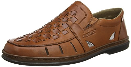 Rieker 12389 Loafers & Mocassins-Men, Herren Slipper, Braun (whisky/whisky/24), 42 EU