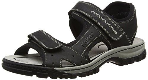 Rieker 25084 Sandals-Men, Herren Sandalen, Schwarz (schwarz/schwarz/00), 44 EU