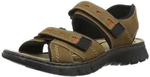 Rieker 26771 Sandals-Men, Herren Sandalen, Braun (zimt/ziegel/schwarz/25), 45 EU