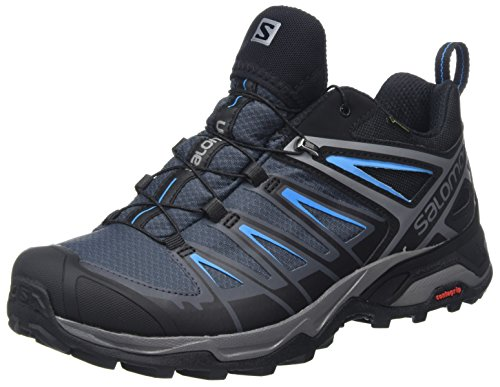 Salomon Herren Ultra 3 GTX Trekking-& Wanderhalbschuhe, Schwarz (Black/India Ink/Hawaiian Surf), 41 1/3 EU