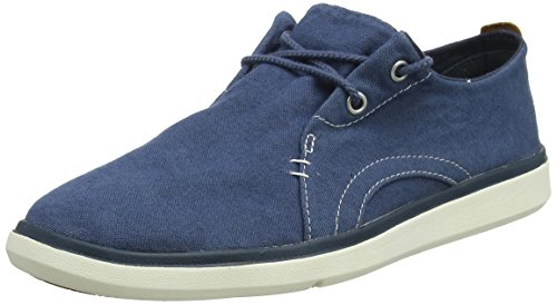 Timberland Herren Gateway Pier Canvas Sensorflex Oxfords, Blau (Midnight Navy Canvas 431), 45 EU