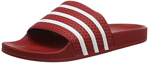 adidas Adilette, Herren Dusch- & Badeschuhe, Rot (Light Scarlet/White/Light Scarlet), 43