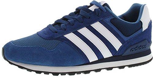 adidas BB9784 10 Herren Sneaker Aus Veloursleder Schnürung Flexible Laufsohle, Groesse 11,5, Blau