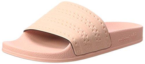 adidas Herren Adilette Badeschuhe, Pink (Haze Coral/Haze Coral/Haze Coral), 40.5 EU