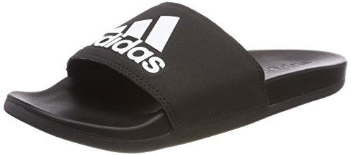 adidas Herren Adilette CF+ Logo Aqua Schuhe, Schwarz (Cblack/Cblack/Ftwwht Cg3425), 46 EU