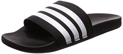 adidas Herren Adilette Cloudfoam Plus Stripes Badeschuhe, Schwarz (Core Black/Footwear White/Core Black 0), 42 EU
