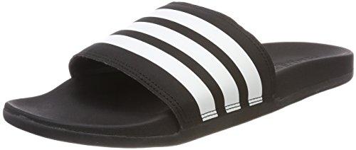 adidas Herren Adilette Cloudfoam Plus Stripes Dusch-& Badeschuhe, Schwarz (Core Black/Ftwr White/Core Black Core Black/Ftwr White/Core Black), 43 1/3 EU