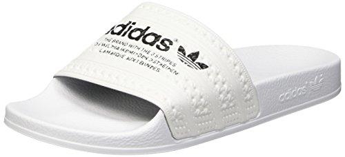 adidas Herren Adilette Slipper Dusch-& Badeschuhe, Weiß (Ftwr White/Ftwr White/Core Black), 46 EU