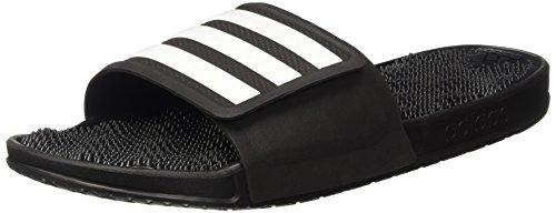 adidas Herren Adissage 2.0 Stripe Niedrige Hausschuhe, Noir/Blanc/Noir, Schwarz, 44.5 EU