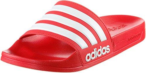 adidas Herren Cloudfoam Adilette Badeschuhe, Rot (Scarlet/Footwear White/Scarlet), 44.5 EU
