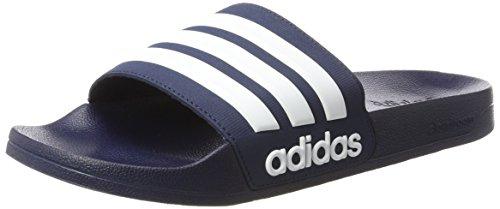 adidas Herren Cloudfoam Adilette Dusch-& Badeschuhe, Blau (Collegiate Navy/Footwear White/Collegiate Navy 0), 44.5 EU