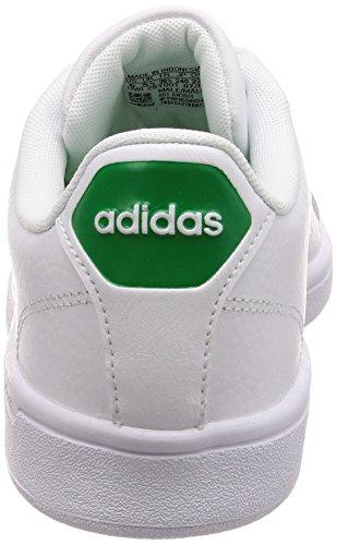 adidas Herren Cloudfoam Advantage Sneaker, Weiß (Ftwwht/ftwwht/Green), 43 1/3 EU
