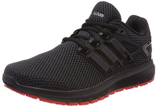 adidas Herren Energy Cloud Laufschuhe, Schwarz (Core Black/Core Black/Hi-Reset Red 0), 44 EU