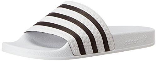 adidas Originals ADILETTE 280648, Unisex-Erwachsene Bade Sandalen, Weiß (Weiß/Schwarz 1/Weiß), EU 46