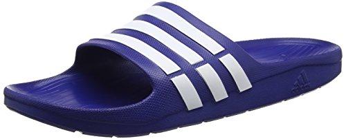 adidas Originals Duramo Slide Unisex-Erwachsene Dusch & Badeschuhe, Blau (NEW NAVY / WHITE / NEW NAVY), 43 EU