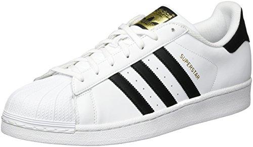 adidas Superstar, Herren Sneakers, Weiß (Ftwr White/Core Black/Ftwr White), 43 1/3 EU (9 Herren UK)