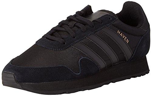 adidas Unisex-Erwachsene Haven Sneakers, Schwarz (Core Black/Core Black/Core Black), 42 EU