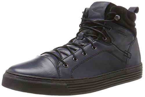 camel active Herren Bowl 32 Hohe Sneaker, Blau (Denim/Black), 49 EU