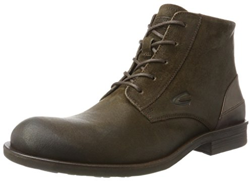 camel active Herren Check 12 Biker Boots, Braun (Taupe 2), 49 EU