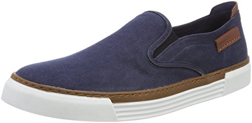 camel active Herren Racket 16 Slipper, Blau (Navy), 47 EU