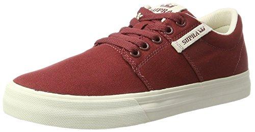 Supra Herren Stacks II VULC Sneaker, Rot (Brick Red-Bone), 45 EU