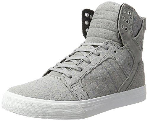 Supra Herren Skytop Sneaker, Grau (Grey Cayman), 42 EU