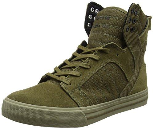 Supra Herren Skytop Sneaker, Grün (Olive/Sage), 43 EU